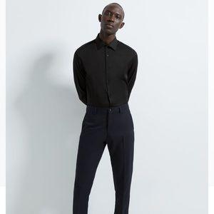 Zara Man Super Slim French Cuff Long Sleeve Shirt